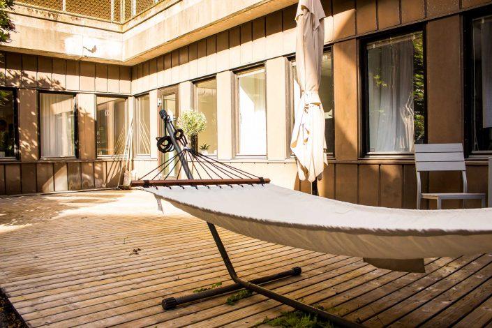 Privat terrass på Teatergatan 19