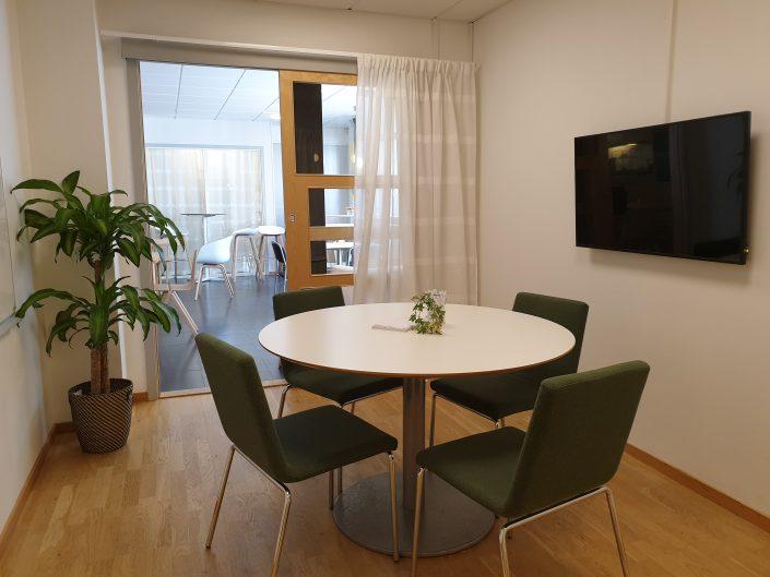 Konferensrum på kontorshotell